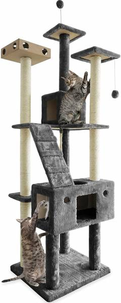 Furhaven Pet Cat Tree | Tiger Tough Cat Tree House Condo Perch Entertainment Playground Furniture for Cats