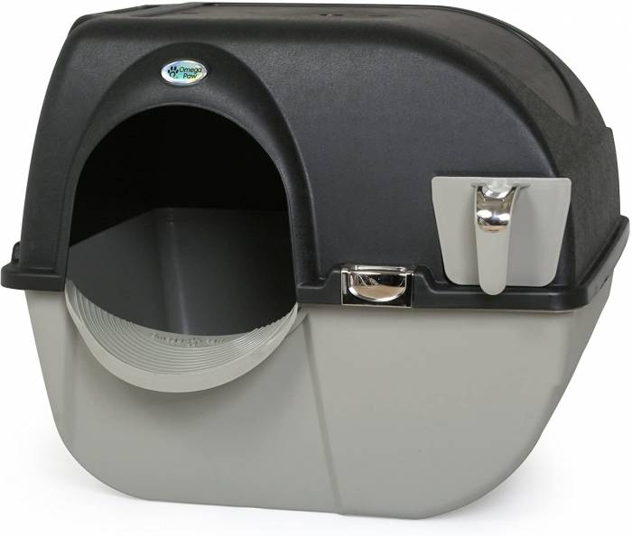 Omega Paw EL RA20 1 Roll N Clean Self Separating Self Cleaning Litter Box