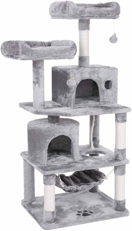 BEWISHOME Cat Tree Condo Furniture Kitten Activity Tower Pet Kitty Play House