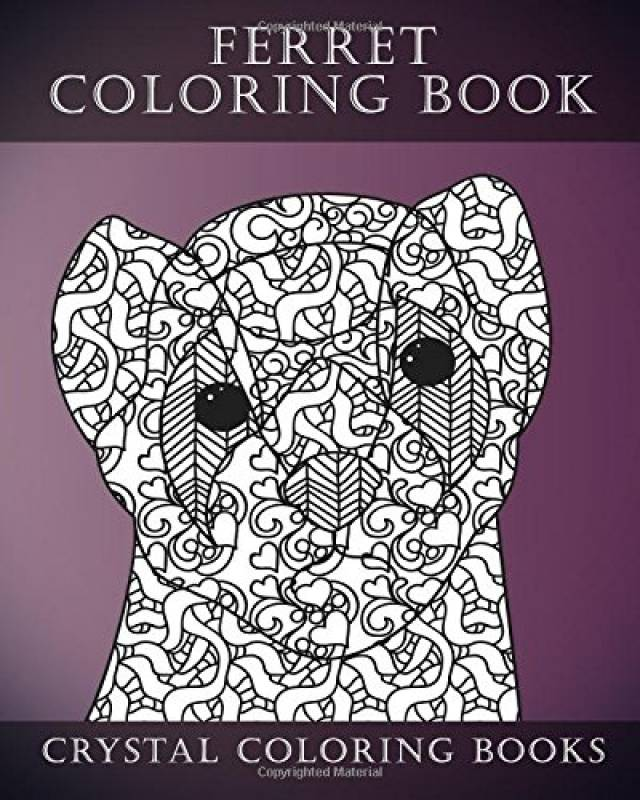 Ferret Colouring Book For Adults: A Stress Relief Adult Coloring Book