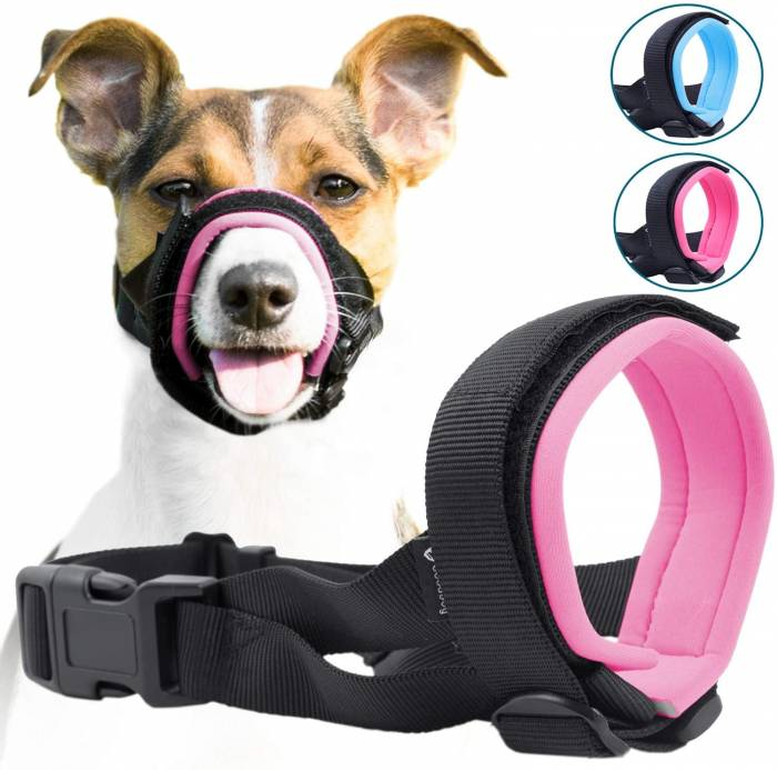 GoodBoy Gentle Muzzle Guard for Dogs Prevents Biting Unwanted Chewing Safely Secure Comfort Fit