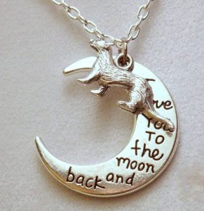 I Love You to the Moon and Back Ferret Necklace