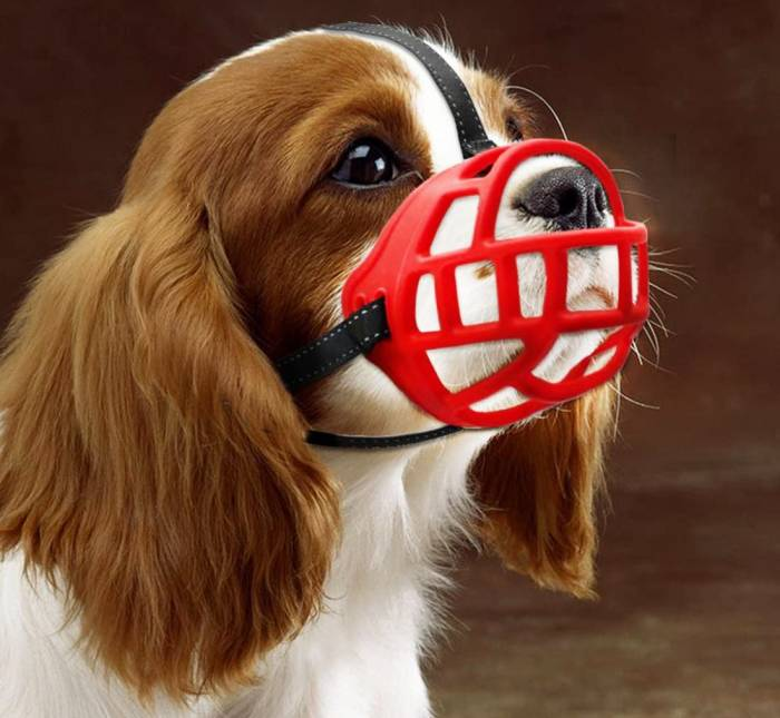 JUNMO Silicone Basket Dog Muzzles, Breathable and Adjustable, Allows Drinking, Panting, and Eating