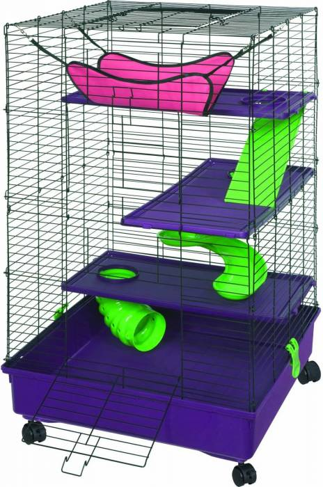 Kaytee My First Home Deluxe 2X2 Multi Level with Casters