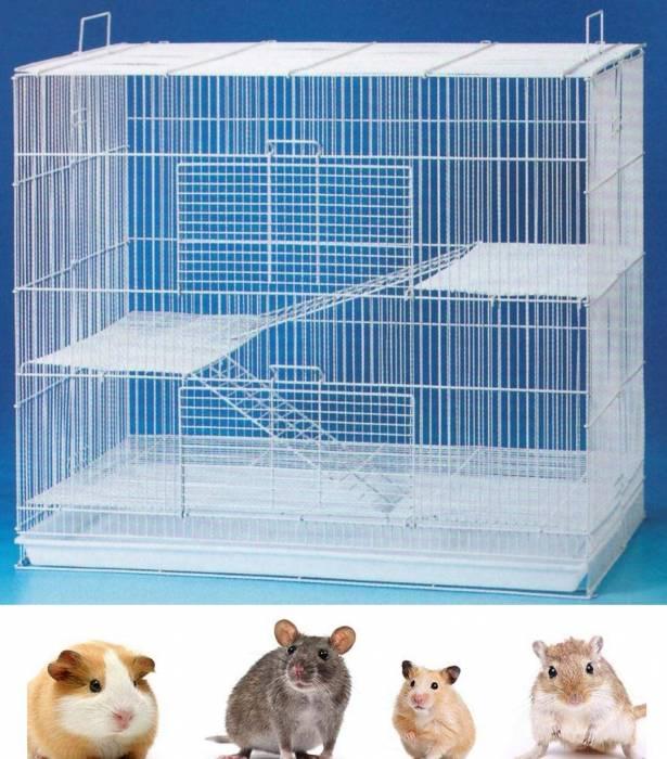 MCage 3 Levels Ferret Chinchilla Hamster Suger Glider