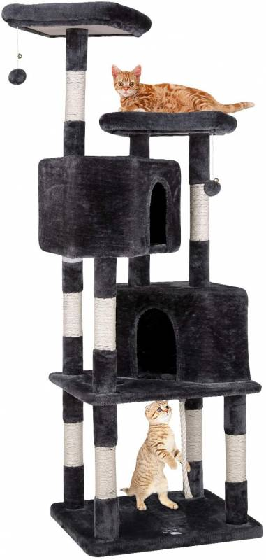 POTBY 70 Multi Level Cat Tree Play House Climber Activity Centre Tower