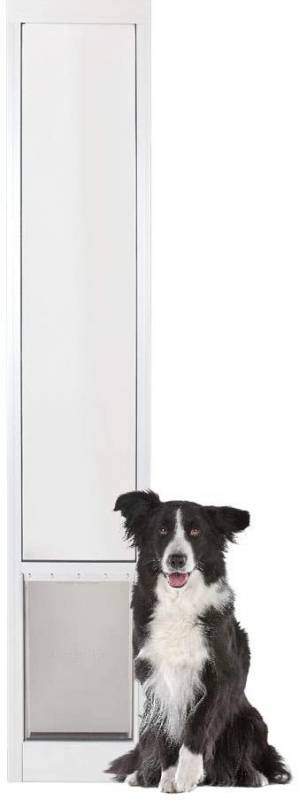 PetSafe Freedom Aluminum Patio Panel Sliding Glass Pet Door for Dogs and Cats Adjustable Frame