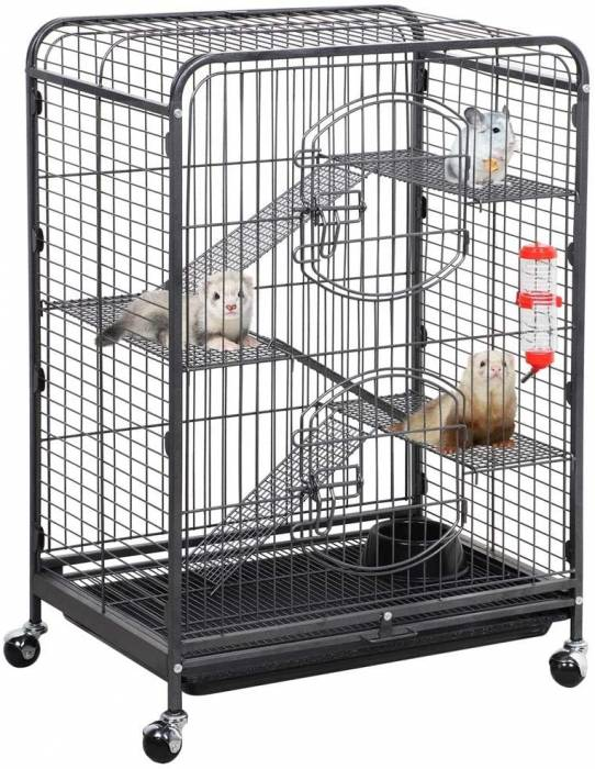 Yaheetech 37 52 inch Metal Ferret Chinchilla Cage Indoor Outdoor